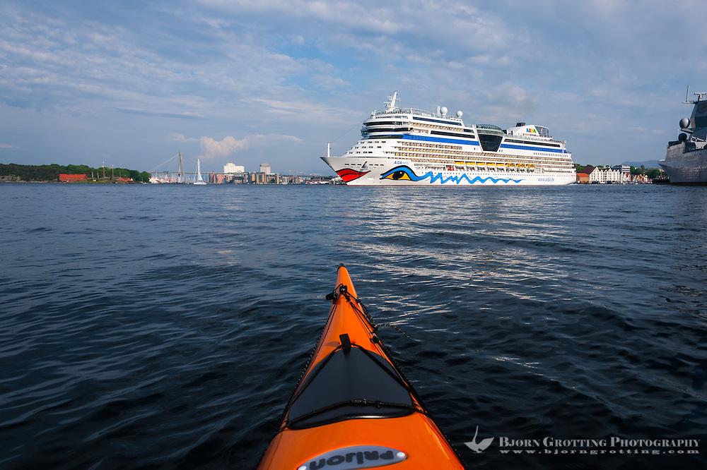 Norway, Stavanger. Cruise ship.