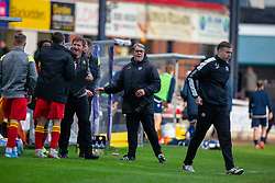Partick Thistle's manager Ian McCall at the end. Dundee 1 v 3 Partick Thistle, Scottish Championship game player 19/10/2019 at Dundee stadium Dens Park.