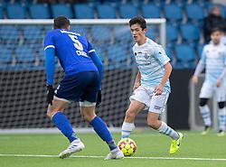 Elijah Just (FC Helsingør) under træningskampen mellem FC Helsingør og Fremad Amager den 18. januar 2020 på Helsingør Ny Stadion (Foto: Claus Birch)