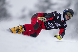 Oskar Kwiatkowski (POL) during Final Run at Parallel Giant Slalom at FIS Snowboard World Cup Rogla 2019, on January 19, 2019 at Course Jasa, Rogla, Slovenia. Photo byJurij Vodusek / Sportida