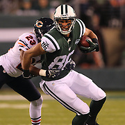 David Nelson, New York Jets, is tackled by Kyle Fuller, Chicago Bears, during the New York Jets Vs Chicago Bears, NFL regular season game at MetLife Stadium, East Rutherford, NJ, USA. 22nd September 2014. Photo Tim Clayton for the New York Times