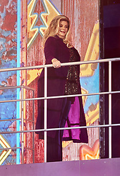 August 17, 2018 - London, United Kingdom of Great Britain and Northern Ireland - Kirstie Alley enters the Celebrity Big Brother house at Elstree Studios on August 16, 2018 in Borehamwood, England  (Credit Image: © Famous/Ace Pictures via ZUMA Press)