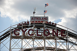 astroland cyclone amusement park ride at Coney Island, NY