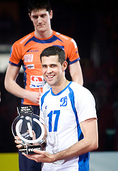 Amaral Dante of Dinamo at final ceremony after the  final match of CEV Indesit Champions League FINAL FOUR tournament between Dinamo Moscow, RUS and Trentino BetClic, ITA on May 2, 2010, at Arena Atlas, Lodz, Poland. Trentino defeated Dinamo 3-0 and became Winner of the Champions League. (Photo by Vid Ponikvar / Sportida)
