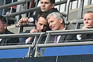 England manager Gareth Southgate watching during the The FA Cup Final match between Manchester City and Watford at Wembley Stadium, London, England on 18 May 2019.