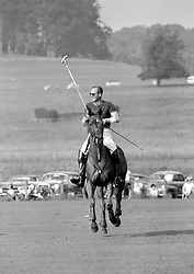 File photo dated 21/07/63 of the Duke of Edinburgh, with his left arm bandaged, as he returned from practice at Cowdray Park before playing for Windsor Park against the Brazilian team Sao Silvestre. Philip was an accomplished all-round sportsman with a particular passion for polo and carriage driving. Issue date: Friday April 9, 2021.