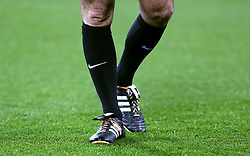 Rainbow laces on boots
