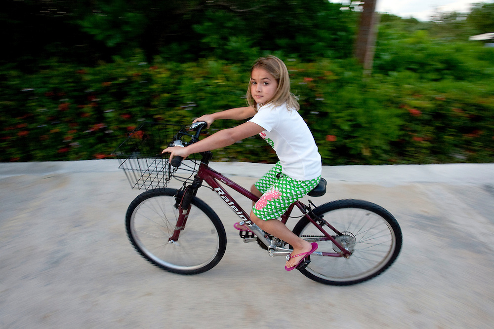 Makinley Kathryn 9, daughter of PGA Tour player Brian Gay, enjoys the surroundings at the Fairmont Hotel where the Mayakoba Classic was being played in Riviera Maya, Mexico.