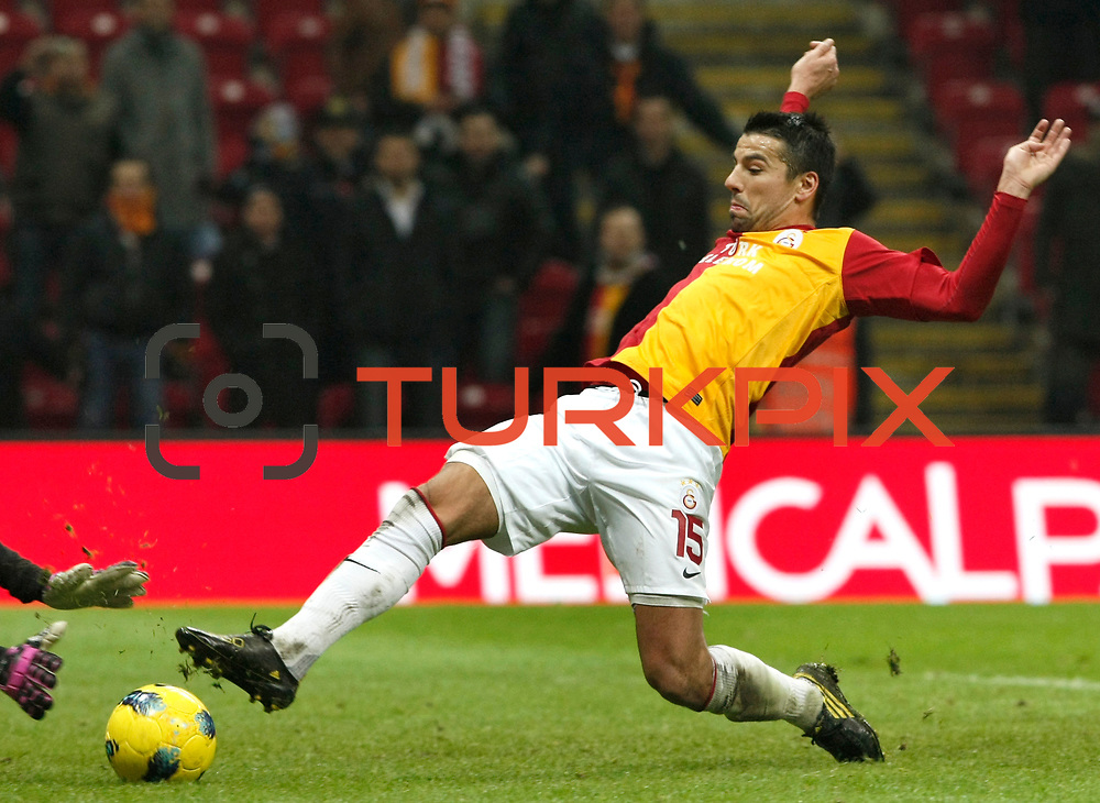 Galatasaray's Milan Baros during their Turkish Super League soccer match Galatasaray between Kardemir Karabukspor at the Turk Telekom Arena at Seyrantepe in Istanbul Turkey on Saturday 14 January 2012. Photo by TURKPIX