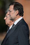 Prime Ministers, Mariano Rajoy and Mario Monti, miltar honors