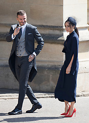 May 19, 2018 - Windsor, United Kingdom - Image licensed to i-Images Picture Agency. 19/05/2018. Windsor , United Kingdom. David and Victoria Beckham  arriving at the Royal Wedding of Prince Harry and Meghan Markle  (Credit Image: © Stephen Lock/i-Images via ZUMA Press)