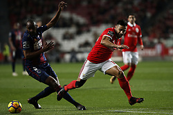 January 20, 2018 - Lisbon, Portugal - Chaves's midfielder Jefferson (L) vies for the ball with Benfica's forward Eduardo Salvio  (R)  during Primeira Liga 2017/18 match between SL Benfica vs GD Chaves, in Lisbon, on January 20, 2018. (Credit Image: © Carlos Palma/NurPhoto via ZUMA Press)