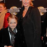 NLD/Amsterdam/20120217 - Premiere Saturday Night Fever, Marijke Schaaphok en zoontje