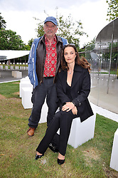 DAVID BAILEY and his wife CATHERINE at the annual Serpentine Gallery Summer Party sponsored by Canvas TV  the new global arts TV network, held at the Serpentine Gallery, Kensington Gardens, London on 9th July 2009.