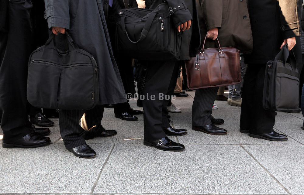 business people in line waiting