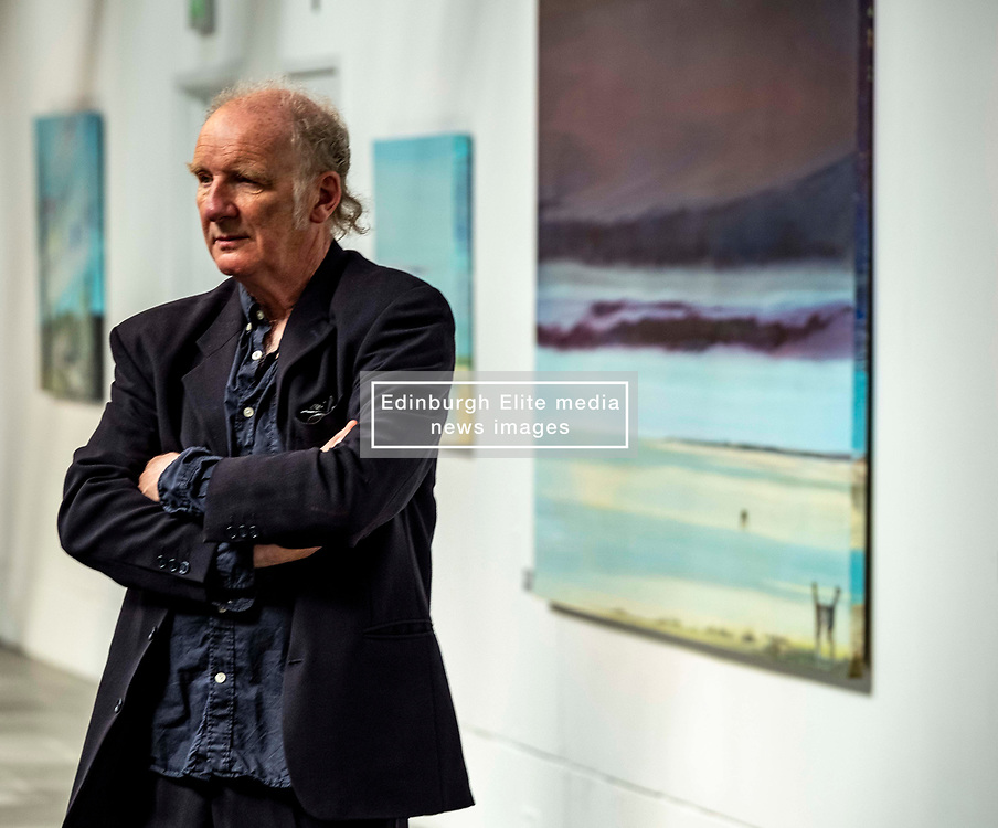 Pictured: Jock McFadyen<br /><br />Artist Jock McFadyen's 70th birthday year is being celebrated with his Lost Boat Party exhibition at the Dovecot Studios, Edinburgh, (in partnership with The Scottish Gallery), of recent paintings which describe the romance and grandeur of the Scottish landscape, alongside the urban dystopia for which the artist is known<br />Ger Harley   EEm 10 June 2021