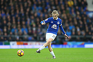 Tom Davies of Everton in action. Premier league match, Everton v Manchester City at Goodison Park in Liverpool, Merseyside on Sunday 15th January 2017.<br /> pic by Chris Stading, Andrew Orchard sports photography.