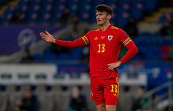 CARDIFF, WALES - Wednesday, November 18, 2020: Wales' Kieffer Moore during the UEFA Nations League Group Stage League B Group 4 match between Wales and Finland at the Cardiff City Stadium. Wales won 3-1 and finished top of Group 4, winning promotion to League A. (Pic by David Rawcliffe/Propaganda)