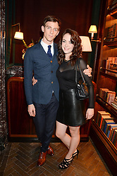 Actor JAMES NORTHCOTE and actress ELISABETH HOPPER at the launch of Rosewood London - a new luxury hotel at 252 High Holborn, London WC1 on 30th October 2013.