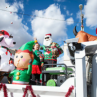 A city of Gallup float at the Christmas parade downtown, Saturday Nov. 1 in Gallup as part of the Red Rock Balloon Rally this weekend.
