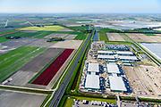 Nederland, Noord-Holland, Middenmeer, 07-05-2018; Wieringermeer, Agriport A7: bouw en uitbreiding van  mega-datacenter van Microsoft.<br /> Construction and expansion of Microsoft's mega datacenter.<br /> <br /> luchtfoto (toeslag op standard tarieven);<br /> aerial photo (additional fee required);<br /> copyright foto/photo Siebe Swart