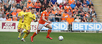Blackpool's Matty Virtue chased by Fleetwood Town's Ross Wallace<br /> <br /> Photographer Stephen White/CameraSport<br /> <br /> The EFL Sky Bet League One - Blackpool v Fleetwood Town - Monday 22nd April 2019 - Bloomfield Road - Blackpool<br /> <br /> World Copyright © 2019 CameraSport. All rights reserved. 43 Linden Ave. Countesthorpe. Leicester. England. LE8 5PG - Tel: +44 (0) 116 277 4147 - admin@camerasport.com - www.camerasport.com<br /> <br /> Photographer Stephen White/CameraSport<br /> <br /> The EFL Sky Bet Championship - Preston North End v Ipswich Town - Friday 19th April 2019 - Deepdale Stadium - Preston<br /> <br /> World Copyright © 2019 CameraSport. All rights reserved. 43 Linden Ave. Countesthorpe. Leicester. England. LE8 5PG - Tel: +44 (0) 116 277 4147 - admin@camerasport.com - www.camerasport.com