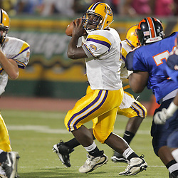 28 August 2009: During the annual Hammond Football Jamboree featuring high schools from Loranger, Amite, Independence, St. Helena, Sumner and Kentwood at Strawberry Stadium in Hammond, Louisiana.