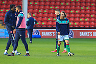 Stuart Sinclair of Walsall FC (7) in the warm up during the The FA Cup match between Walsall and Bristol Rovers at the Banks's Stadium, Walsall, England on 7 November 2020.