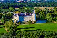 France, Maine-et-Loire (49), Ecuillé, Château du Plessis Bourré (vue aérienne) // France, Maine et Loire, Ecuillé, Plessis Bourre castle