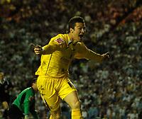 Photo: Jed Wee.<br /> Leeds United v Preston North End. Coca Cola Championship. Play-off, First Leg. 05/05/2006. <br /> <br /> Preston's David Nugent celebrates after scoring an excellent goal.