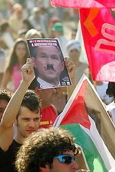 Organizações palestinas realizam marcha contra a ocupação israelense no Oriente Médio. O protesto foi realizado nesta sexta-feira (28) na Avenida Beira Rio, em Porto Alegre (RS), cidade onde acontece o V Fórum Social Mundial. FOTO: Jefferson Bernardes / Preview.com