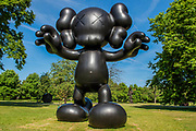 KAWS, Final Days (2013) - The Frieze Sculpture Park 2017 comprises large-scale works, set in the English Gardens . The installations will remain on view until 8 Oct 2017.