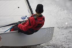 08_0032_OPTI_EASTER © Sander van der Borch BRAASSEMMERMEER THE NETHERLANDS, 21 March 2008. 23rd Magic Marine International Easter Optimist Regatta 2008. 214 Opti sailors from around Europe and the USA race on a small Dutch lake.