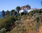 Iglesia del Espiritu Sancto viewed from outside the old city walls Ronda, Spain