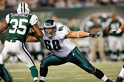 Philadelphia Eagles FB Dan Klecko #68 during the NFL game between the Philadelphia Eagles and the New York Jets on September 3rd 2009. The Jets won 38-27 at Giants Stadium in East Rutherford, NJ.  (Photo By Brian Garfinkel)