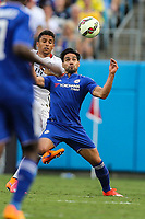 Fotball<br /> Foto: imago/Digitalsport<br /> NORWAY ONLY<br /> <br /> July 25, 2015: Chelsea striker Falcao (9) eyes the ball ready for a header during the first half of the International Champions Cup match held at Bank of America Stadium in Charlotte, NC. After a 1-1 tie Chelsea wins in overtime with penalty kicks. SOCCER: JUL 25 International Champions Cup - Paris Saint-Germain v Chelsea