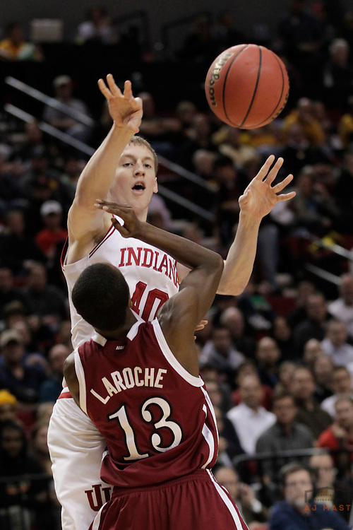 15 March 2012: Indiana Forward Cody Zeller (40)  as the New Mexico State Aggies played the Indiana Hoosiers in the Second Round of the NCAA Division I Men's Basketball Championship at the Rose Garden in Portland, OR.