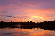 Middletown, New York  - People were treated to beautiful sunset while waiting for the fireworks display by the lake at Fancher-Davidge Park during Middletown's Stars and Stripes Celebration on June 28, 2014.