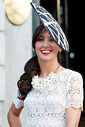 Trish O'Sullivan, Shantalla, Galway at the Hotel Meyrick Most Stylish Lady event on ladies day of The Galway Races. Photo:Andrew Downes