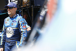 April 13, 2018 - Bristol, Tennessee, United States of America - April 13, 2018 - Bristol, Tennessee, USA: Kevin Harvick (4) hangs out in the garage during practice for the Food City 500 at Bristol Motor Speedway in Bristol, Tennessee. (Credit Image: © Chris Owens Asp Inc/ASP via ZUMA Wire)