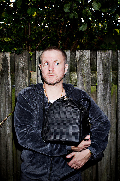 Danish stand-up comedian Anders Mattesen  photographed in his childhood neighborhood Albertslund, Denmark