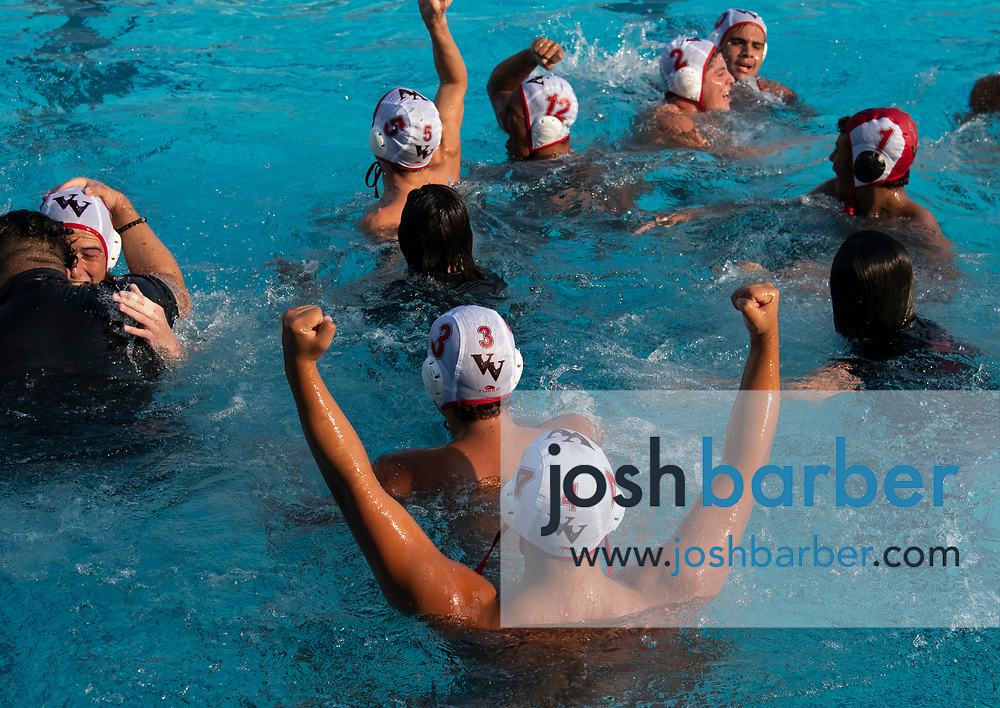 Valley View's Jonathan Vivanco during the CIFS-SS Division 6 Championship Final at William Woollett Jr. Aquatic Center on Saturday, November 10, 2018 in Irvine, Calif. Valley View won 10-9. (Photo by Josh Barber, Contributing Photographer)