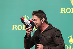 Formel 1: Grosser Preis der USA in Austin, Renntag / 231016<br /> <br /> ***Gerard Butler (GBR) Actor.<br /> 23.10.2016. Formula 1 World Championship, Rd 18, United States Grand Prix, Austin, Texas, USA, Race Day.<br /> ***