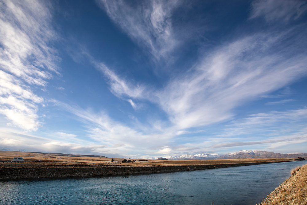 Hydro canal in the Mackenzie Country,<br /> Canterbury South Island
