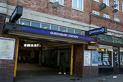 © Licensed to London News Pictures. 10/03/2019. London, UK. General view of Queensbury Underground station.<br /> British Transport Police officers were called at around 12.30am to Queensbury Underground Tube station after an altercation that took place and found a man who'd suffered a serious head injury. The man later died later in a hospital.<br />  Photo credit: Dinendra Haria/LNP
