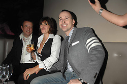 Left to right, HAMISH McALPINE, TRACEY EMIN and DAVID FURNISH at a party hosted by Kitts nightclub in honour of Ed Godrich to than him for his work on designing the club in Sloane Square, London on 1st March 2007.<br />