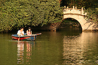 Chinese Couple at Renmin Park in Chengdu with many teahouses, a large pond, pleasure boats and lots of greenery right in the center of Chengdu.
