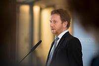 DEU, Deutschland, Germany, Berlin, 14.02.2017: Michael Kretschmer, stellvertretender Vorsitzenden der CDU/CSU-Bundestagsfraktion, bei einem Pressestatement im Deutschen Bundestag.