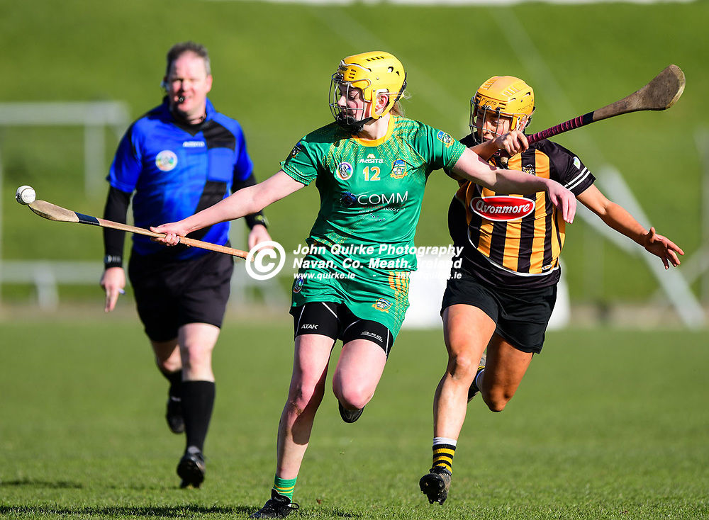 Meath's Aoife Minogue shows great akill as she solos oupfield with the ball on the end of her hurley   in the Meath v Kilkenny Littlewoods Ireland Camogie Leagues Division 2  match in Pairc Tailteann, Navan.<br /> <br /> Photo: GERRY SHANAHAN-WWW.QUIRKE.IE<br /> <br /> 08-03-2020