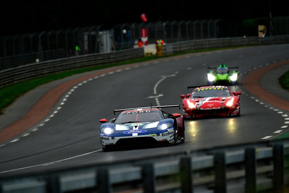 #68 Ford Chip Ganassi Racing Ford GT: Joey Hand, Dirk Müller, Sébastien Bourdais<br /> Thursday 14 June 2018<br /> 24 Hours of Le Mans<br /> 2018 24 Hours of Le Mans<br /> Circuit de la Sarthe  FR<br /> World Copyright: Scott R LePage